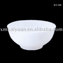 Wholesale hotel restaurant cheap ceramic dinnerware white fine china cereal bowl for rice or soup