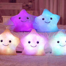 Stars Plush Pillows LED Glowing Cushion Light Up Toy/Cute Colorful LED Toy Luminous Five Stars Flashing light Pillow
