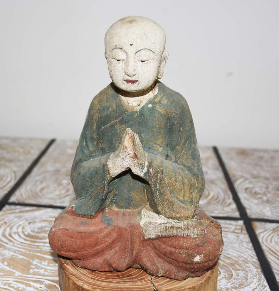 wholesale hotsale vintage wood Buddha home decor ornaments home accessories wood carving crafts