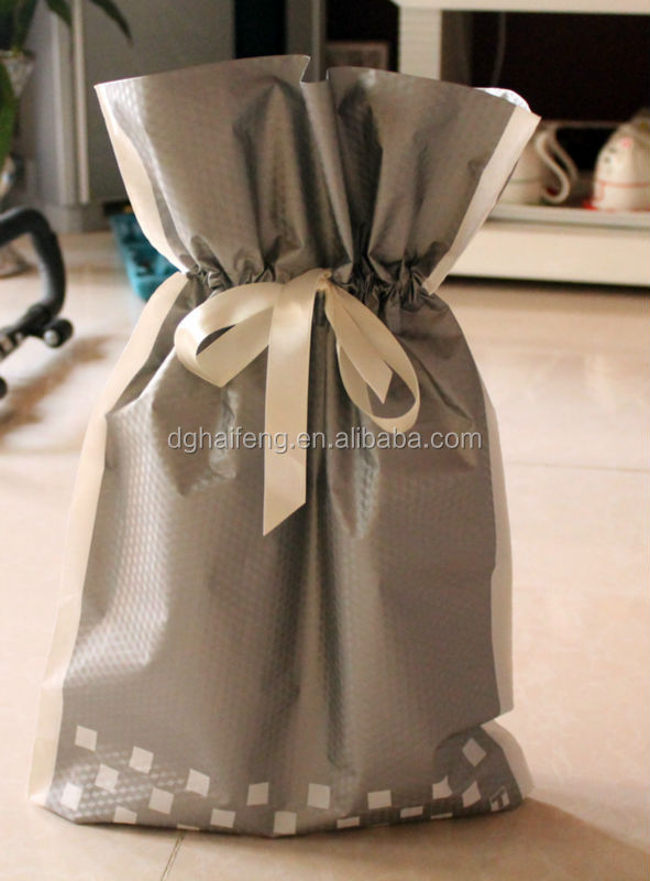 Gift small drawstring plastic bag