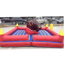 Top sale PVC inflatable interactive games mechanical rodeo bull machine for the kids adult