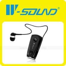 2014 w-sonido f900 fabrica clip on stereo headphone bluetooth manos libres inalámbrico