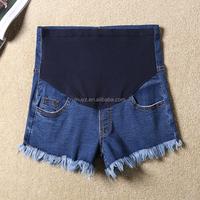 L2039A 2017 pregnant women cotton 75% denim jeans shorts Maternity Clothing