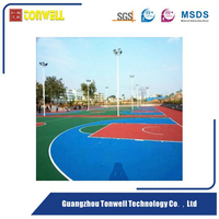 Wear resistance seamless Acrylic acid sport court solid surface material