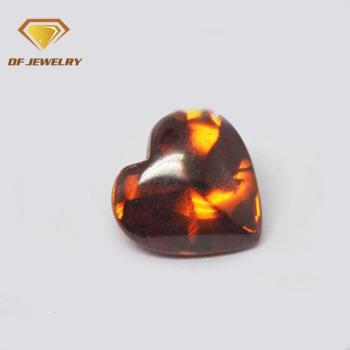 8x8mm heart cut multi color loose cubic zirconia stones