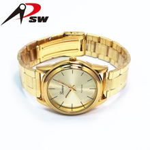 Gold color alloy case watches men wrist watch 2015 hot sale new product