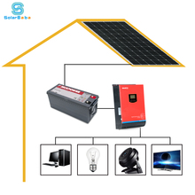 1kw 2kw 3kw off-grid solar power system with inverter/battery/solar panel/soalr controller