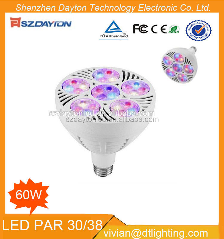 2017 New product led par 38 60 w grow lights for plant approved CE or RoHs