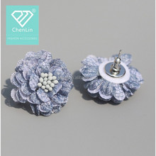 wholesale Handmade fabric Flower accessories for making earrings