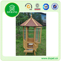 Outdoor Wooden Double Bird Cage