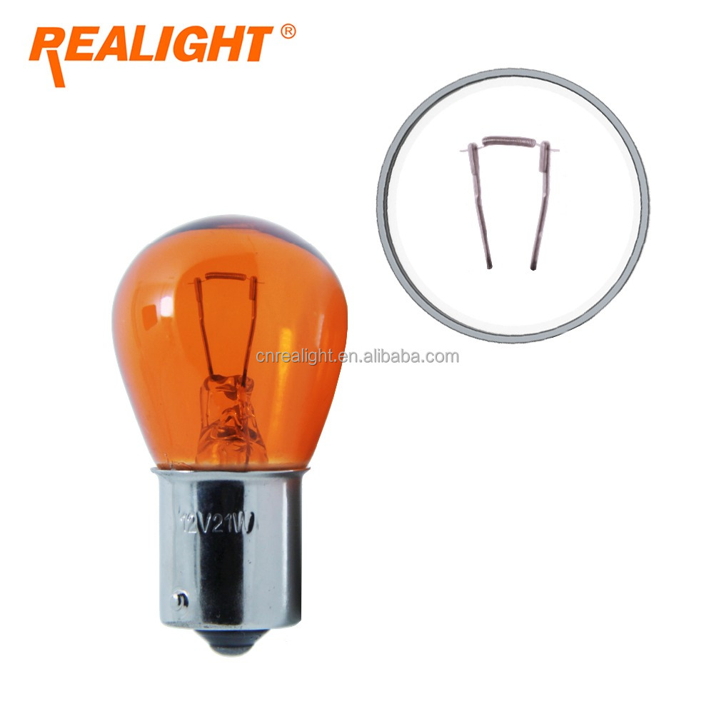 Automobile Lamp Amber 12V 21W Car Halogen Bulb 1156 as Turn Reverse Light
