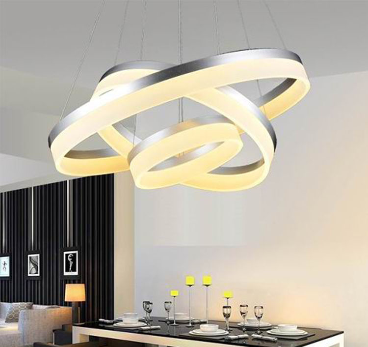 Modern Simple Acrylic LED Circle Pendant Light 1 Tier Ceiling Lights OXD8815-40+60+80