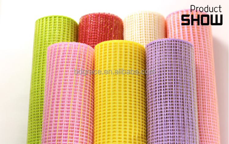 China Supplier Home Decor Poly Mesh Roll Ribbon Made In