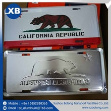 Professional widely souvenir sublimation blank aluminum license plate