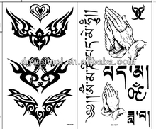BT785 high quality body art men black temporary tattoo