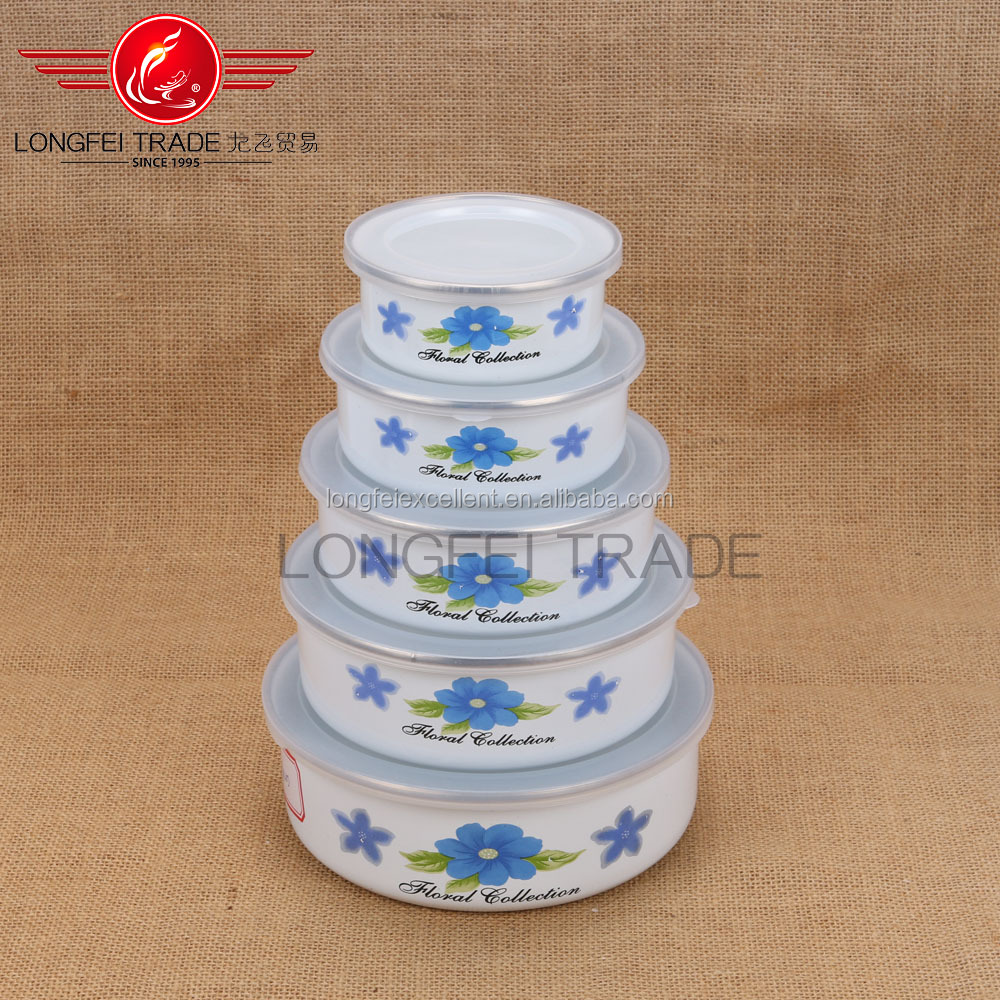 Home utensils korean porcelain enamel cookware sets