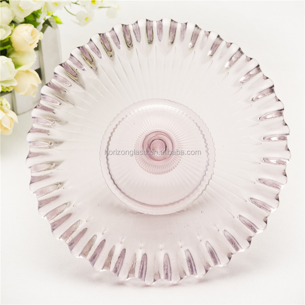 Handmade ccolored cascade cake stand 3 tier heart shape wedding cake stand manufacture
