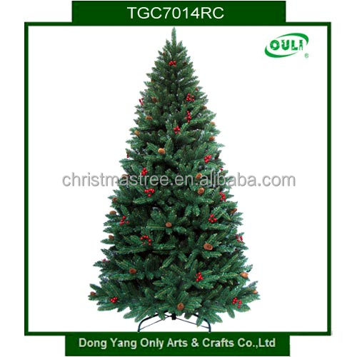 decorated green christmas tree