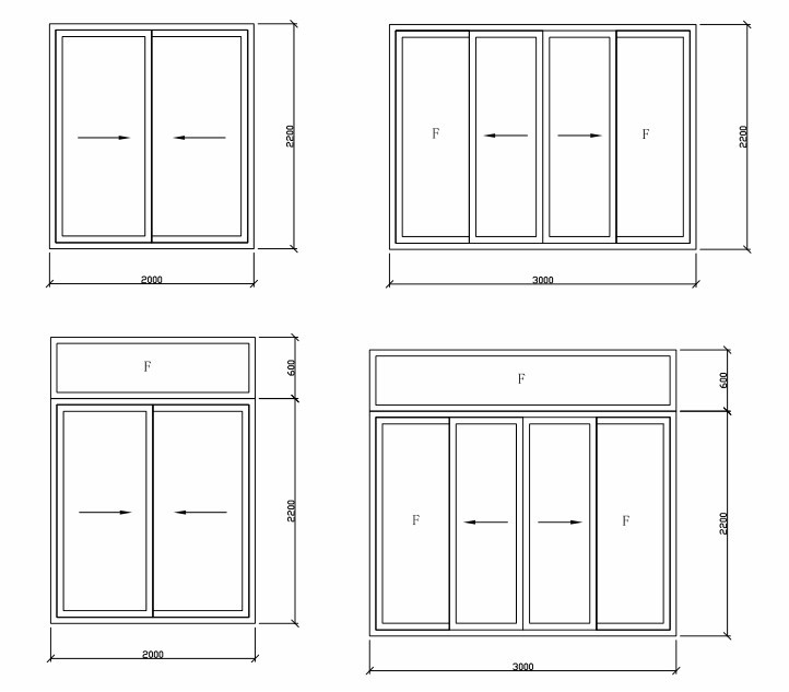 Top quality aluminum large sliding glass doors top hung for Different types of sliding glass doors