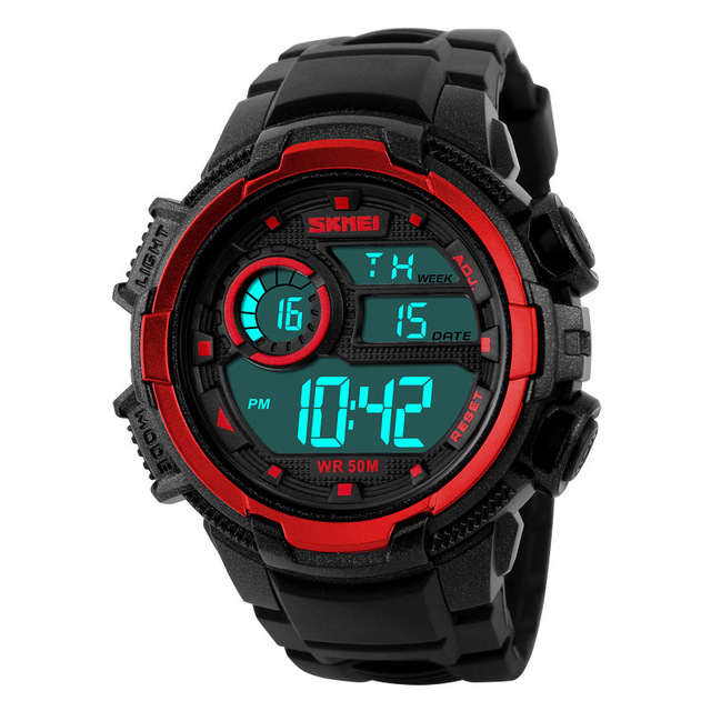 SKMEI 1113 Men's Fashion Casual LED Digital Waterproof Military Sports Watches Chronograph Electronic Digital Climbing watches