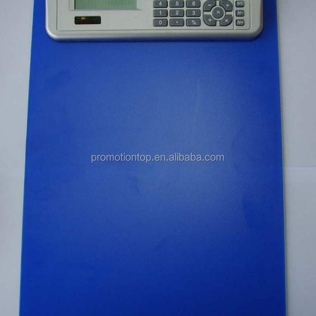 plastic calculator with clip board