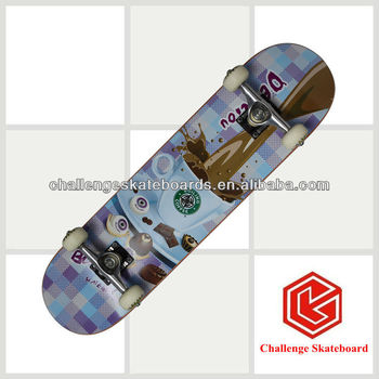 Popular 7 ply Canadian maple skateboard