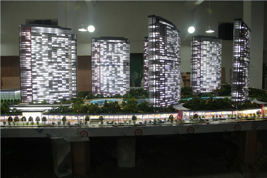 Turkish perfect lighting 1/100 scale residential building model builder