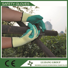 Hot sale top quality abrasion proof wrinkle latex dipped safety gloves work gloves for industry/home/glass/machinist