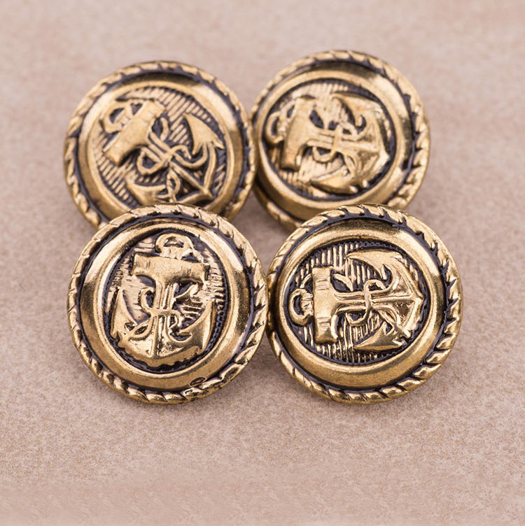 // vintage european american customized logo alloy buttons // metal buttons for coat jeans // BK-BUT486
