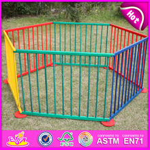 2015 Colorful Wood baby playpen wholesales,8 sides baby portable wooden playpen for european standard W08H010-A1