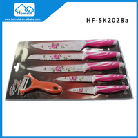 5Pcs non-stick Kitchen knife set and ceramic peeler