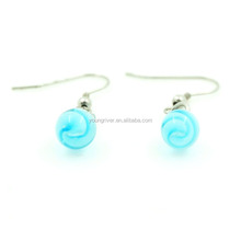 Popular Blue Crystal Earring Fancy Design Earring