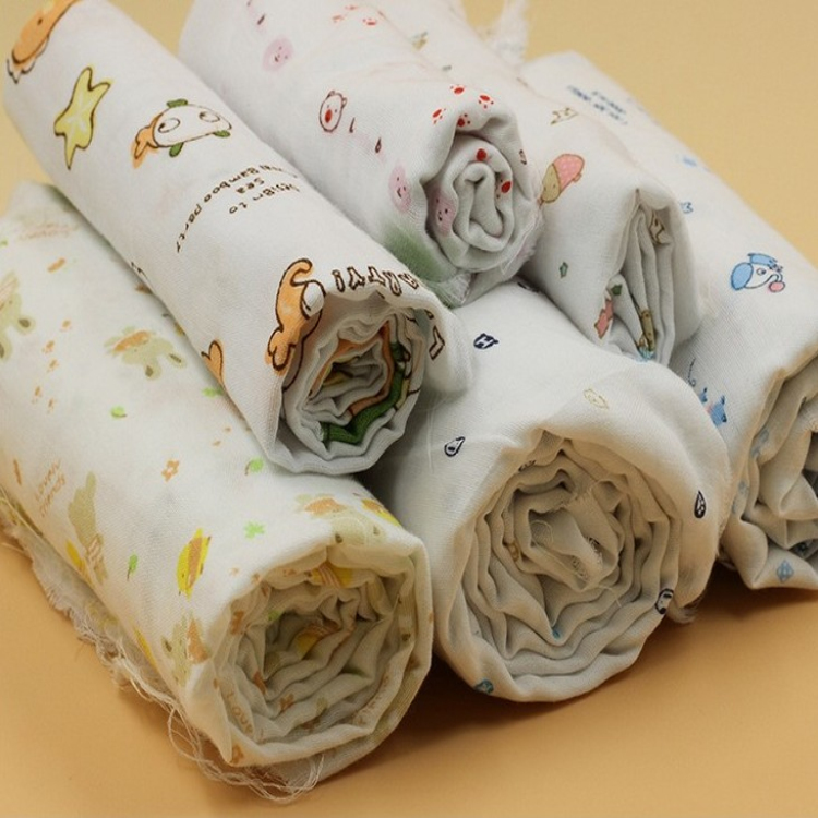 China fabric supplier combed muslin gauze fabric wholesale for Wholesale baby fabric