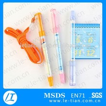 LT-Y611 Multi-function plastic pen with rope, promotion pen with roll out paper