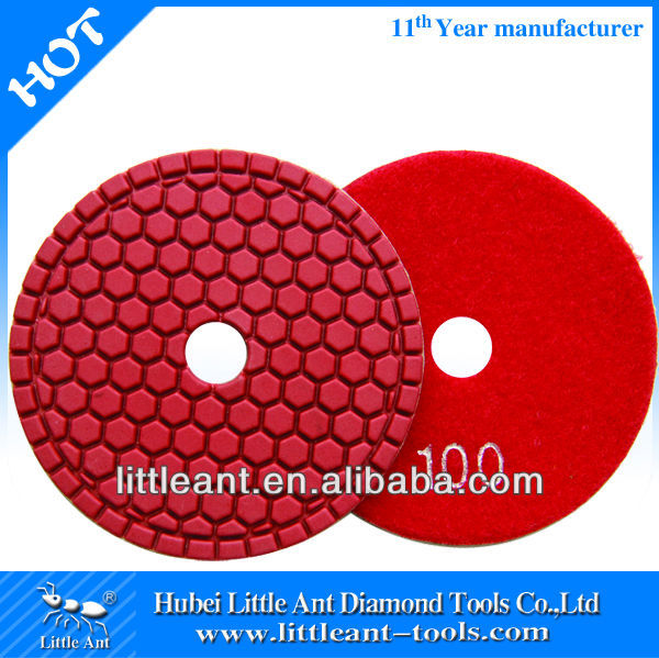 "4""/100mm 100 grit Diamond wet diamond pads for buffing and polishing machine"