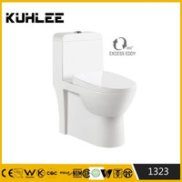 KL-1323 Ceramic bathroom one piece siphonic water saving WC toilet