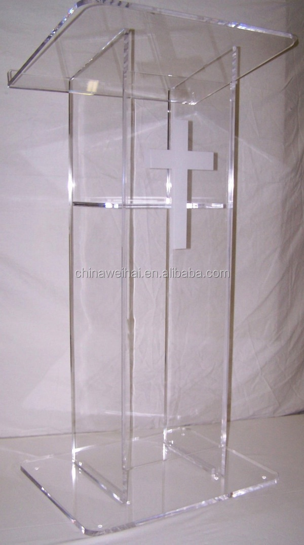 Transparent Plexiglass Acrylic Church Pulpit