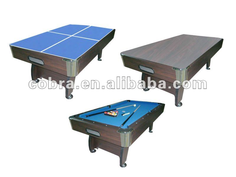 Pool Table/Ping-pong Table/Dinner Table 3 in 1 Multi-game,zink alloy pocket,ball return system