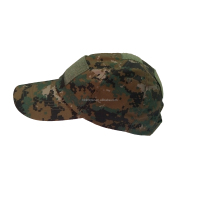 Digital woodland casual baseball camo army hat