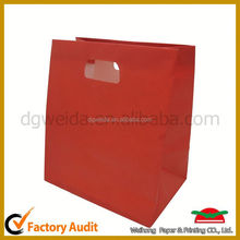 new arrival bag top grade red metallic paper gift bag