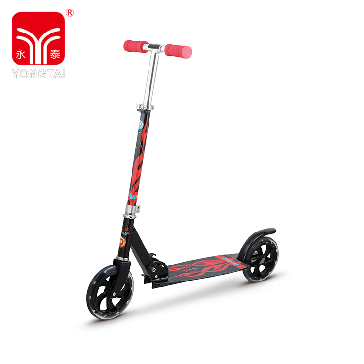 200mm PU Large Wheels Adult Kick Scooter, Self Balance Scooter With Foam Handle