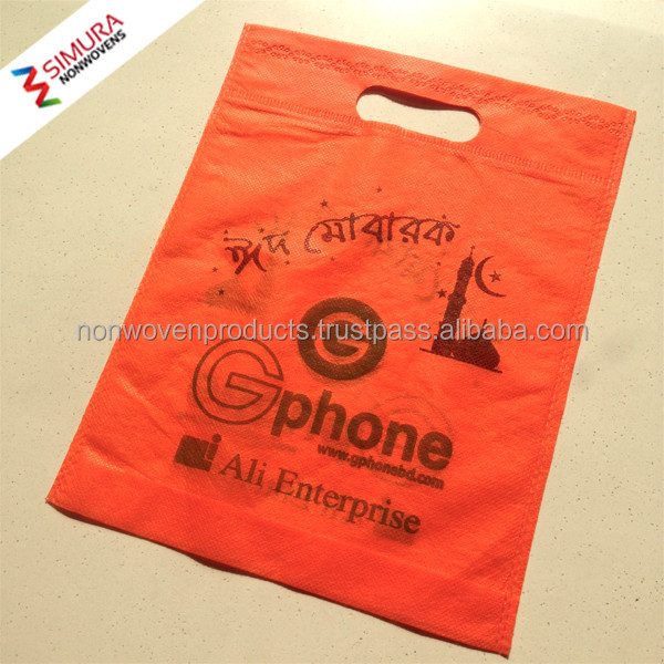 Non Woven Bag Bangladesh with D Cut and Long Handle
