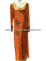NY252 Fashion colorful 2014 arabic Kaftan abaya
