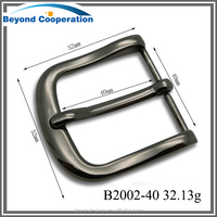 Casting alloy buckle for 40mm width belt man and women adjustable