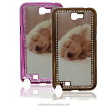 Best quality with diamonds phone case sublimation printing for Samsung Note2 N7100