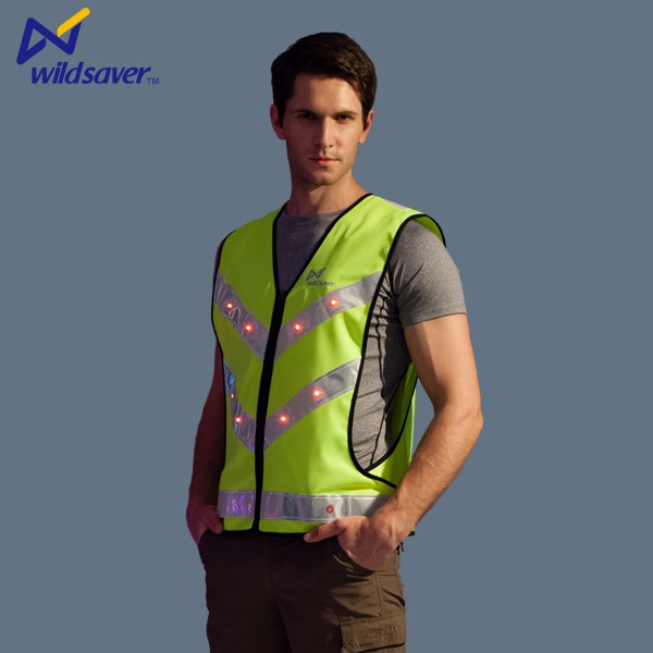 High Visibility LED safety outdoor working clothes