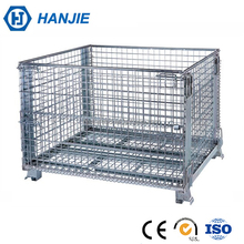Heavy duty scale warehouse storage steel folding wire mesh cages