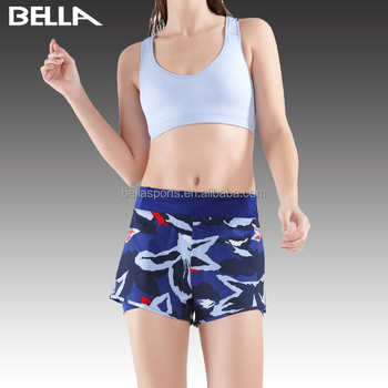 Custom print ladies running shorts for running yoga sport