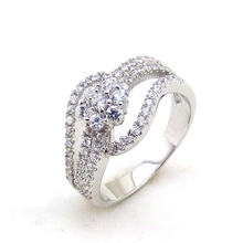 Hot sale 925 silver jewelry cheap diamond wedding rings for women unique design