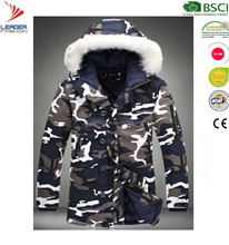 Mens Fashion Designer Camouflage Winter Down Padded Jacket